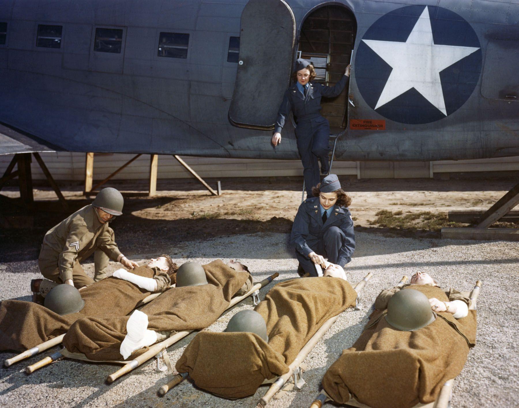 At the Army Air Force School of Air Evacuation at Bowman