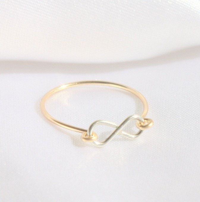 Infinity Ring - Best friend infinity ring   Simple gold rings ...
