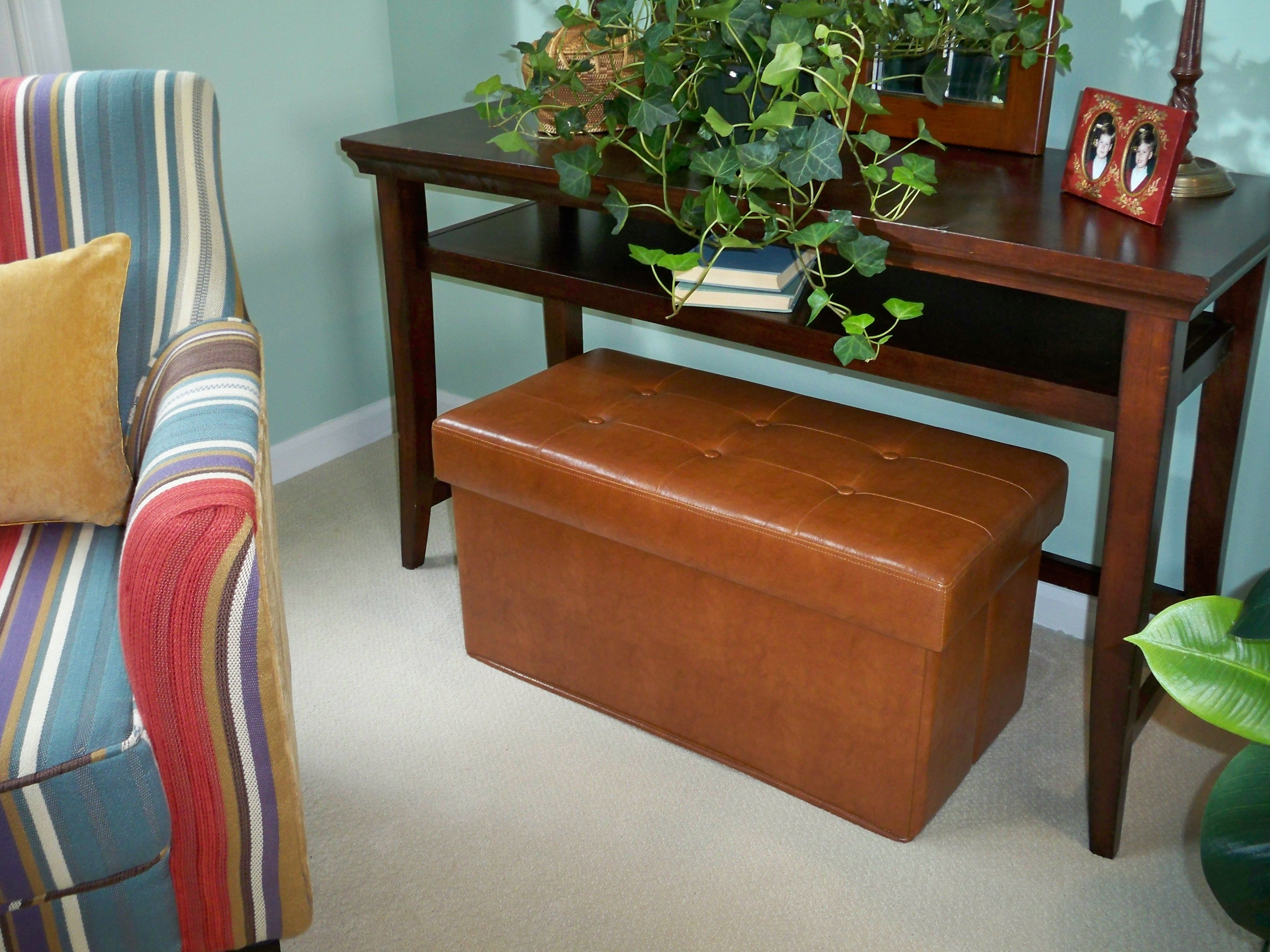 Incredible Faux Leather Collapsible Bench By Valerie H19505 Home Alphanode Cool Chair Designs And Ideas Alphanodeonline