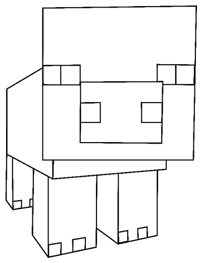 Image of: Cow How To Draw Pig From Minecraft With Easy Step By Step Drawing Tutorial Step Pinterest How To Draw Pig From Minecraft With Easy Step By Step Drawing