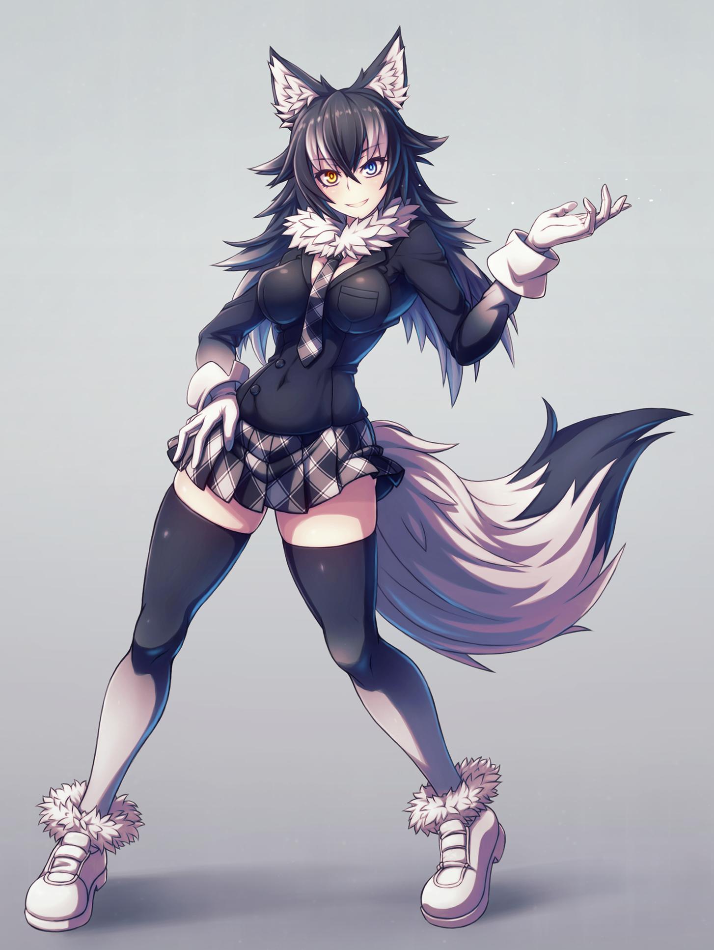 Gray Wolf By Poifuru Kemono Friends Anime Wolf Girl Anime Furry Anime Wolf