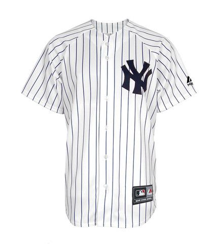 on sale ec2cd 2229f MLB Jersey NY Yankees White Pinstripe  majesticathletic  jersey  yankees  New York Yankees Apparel