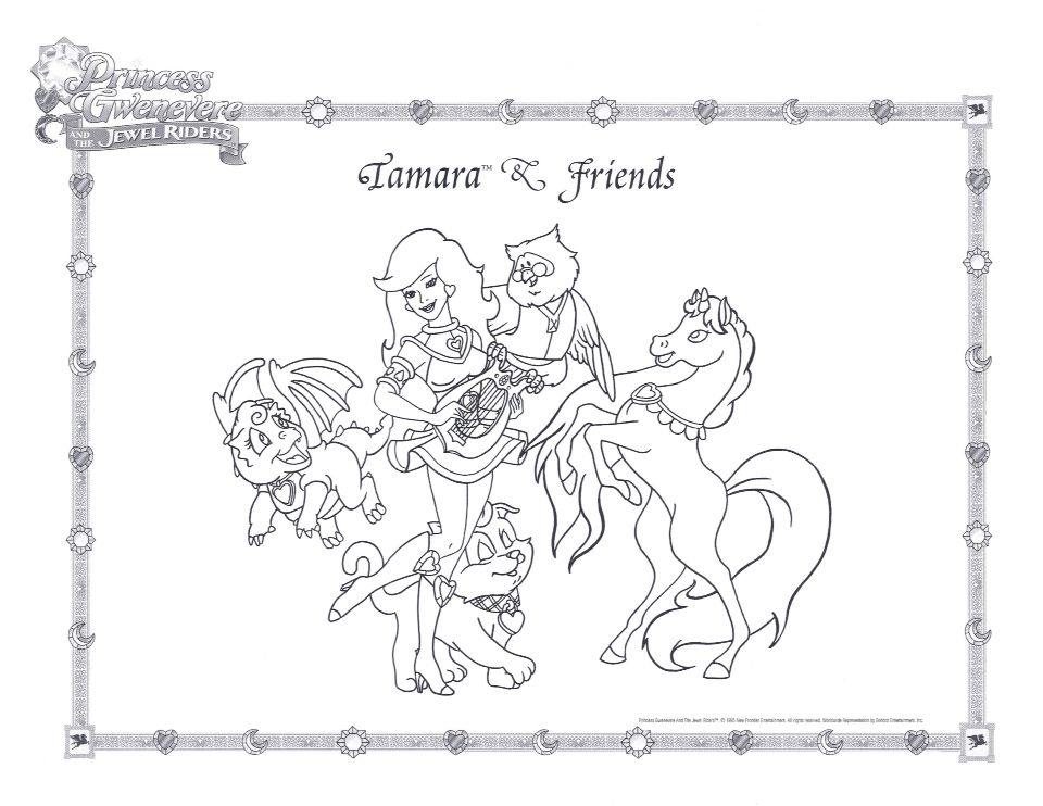 Tamara Friends Coloring Page Princess Gwenevere And The Jewel Riders