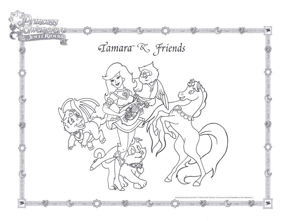 Tamara & Friends Coloring Page Prin…