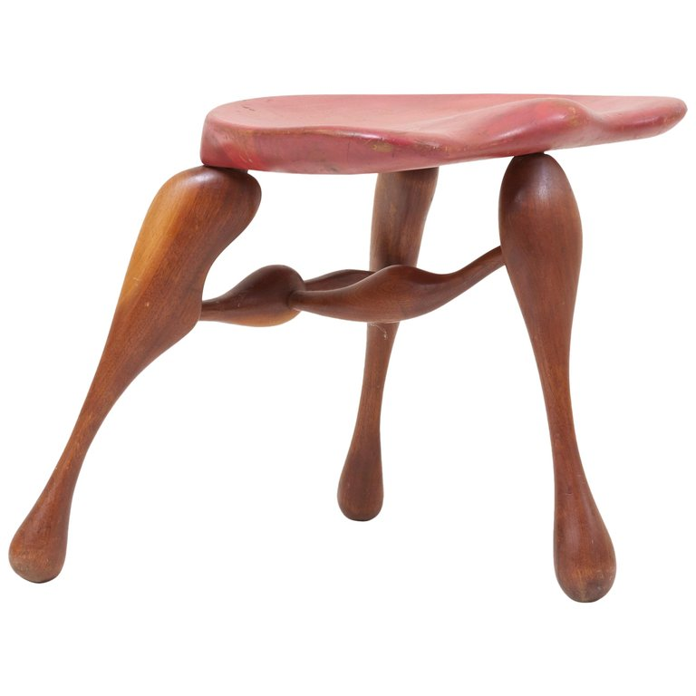 Super Ron Curtis Stool Studio Craft Wooden Us 1980 American Beatyapartments Chair Design Images Beatyapartmentscom
