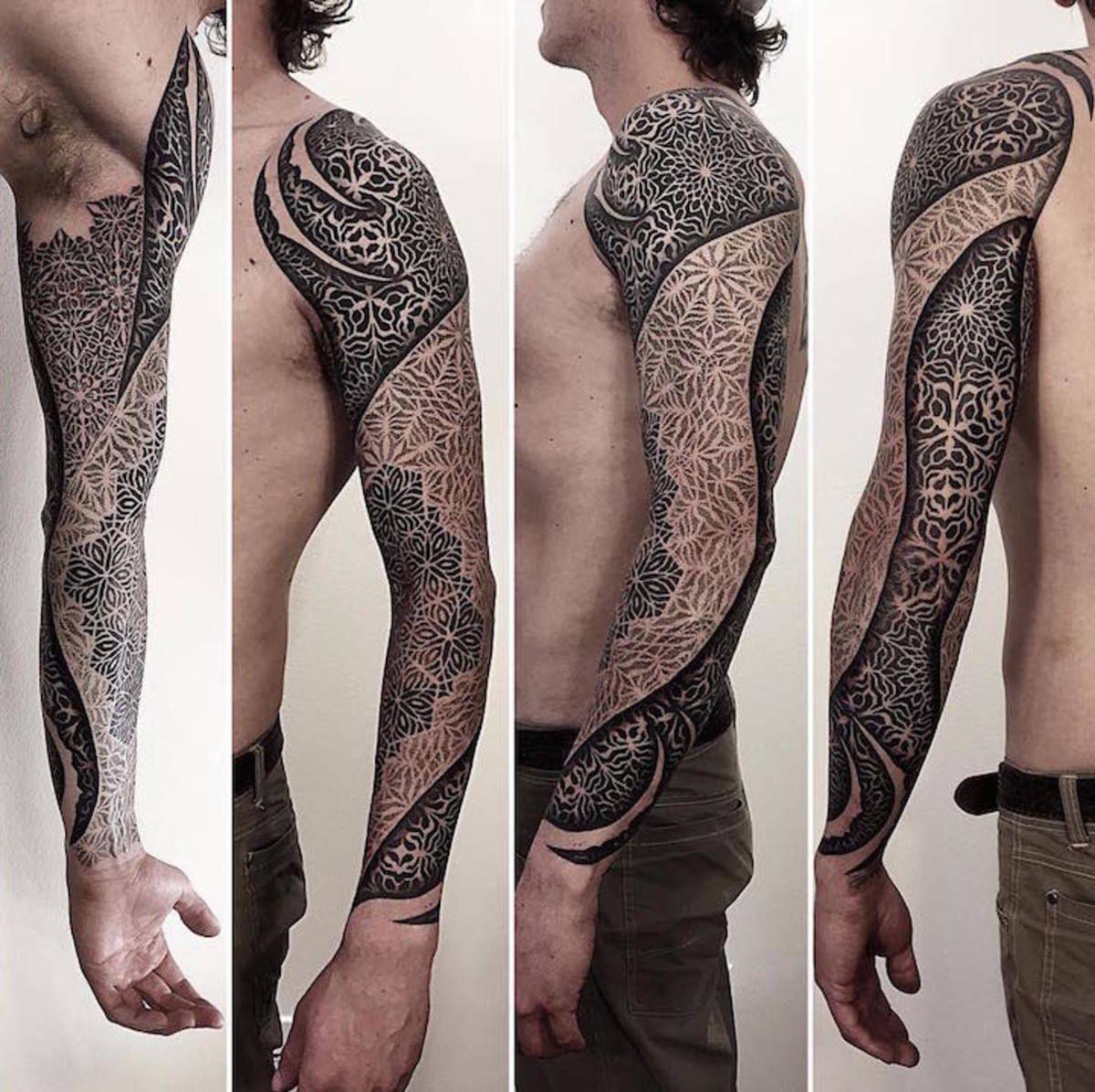 486608c26 Beautifully Complex Geometric Tattoo Sleeves by Brandon Crone - BlazePress  #beautytatoos