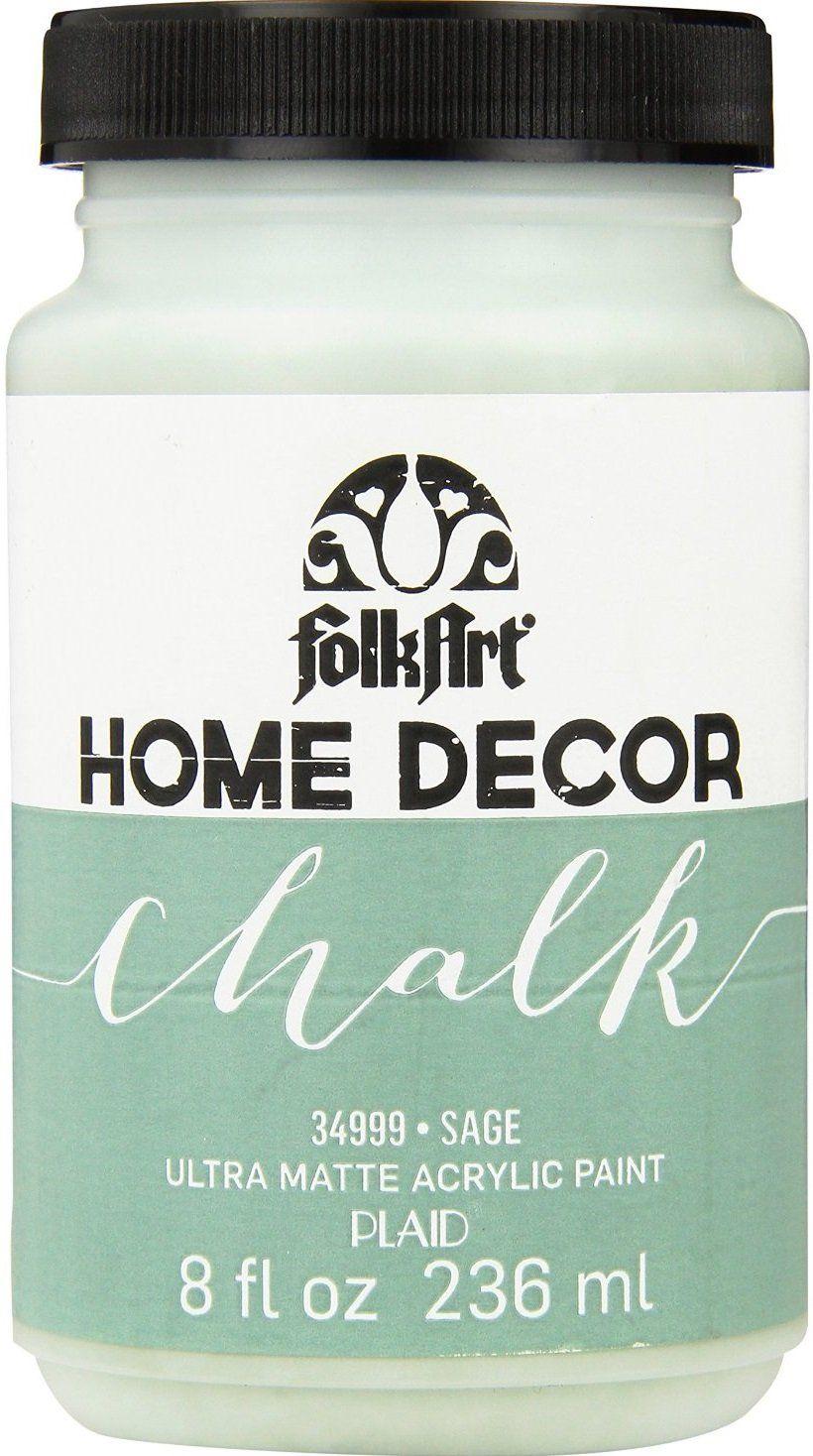 Folkart 34999 acrylic home decor chalk sage 8 oz home