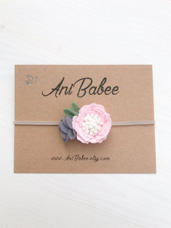 Venda del beb diadema flor fieltro diadema flor de beb recin