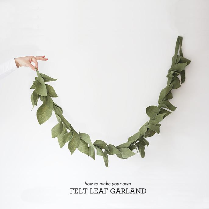 DIY, Felt Leaf Garland • Lindsay Stephenson
