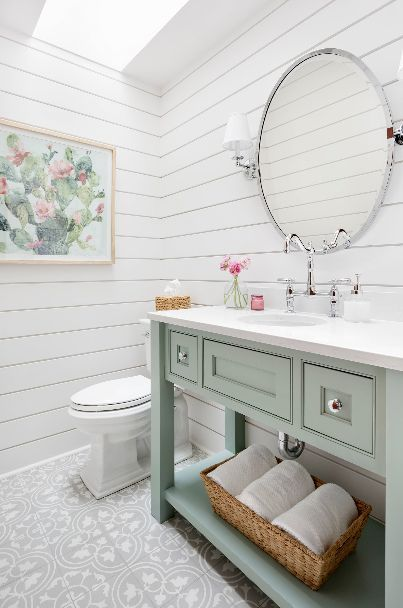 Best Shiplap Bathroom Wall Designs & Ideas