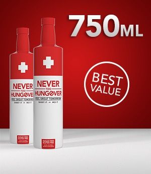 Never Too Hungover   Never Too Hungover - The World's Leading Hangover Prevention Drink   Hangover prevention. Hungover. Drinks