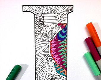 Letter T Zentangle Inspired By The Font Deutsch DJPenscript