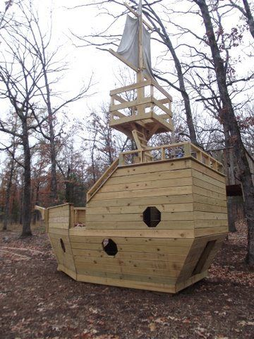 outdoor pirate ship playset plans | The kids' back yard ...