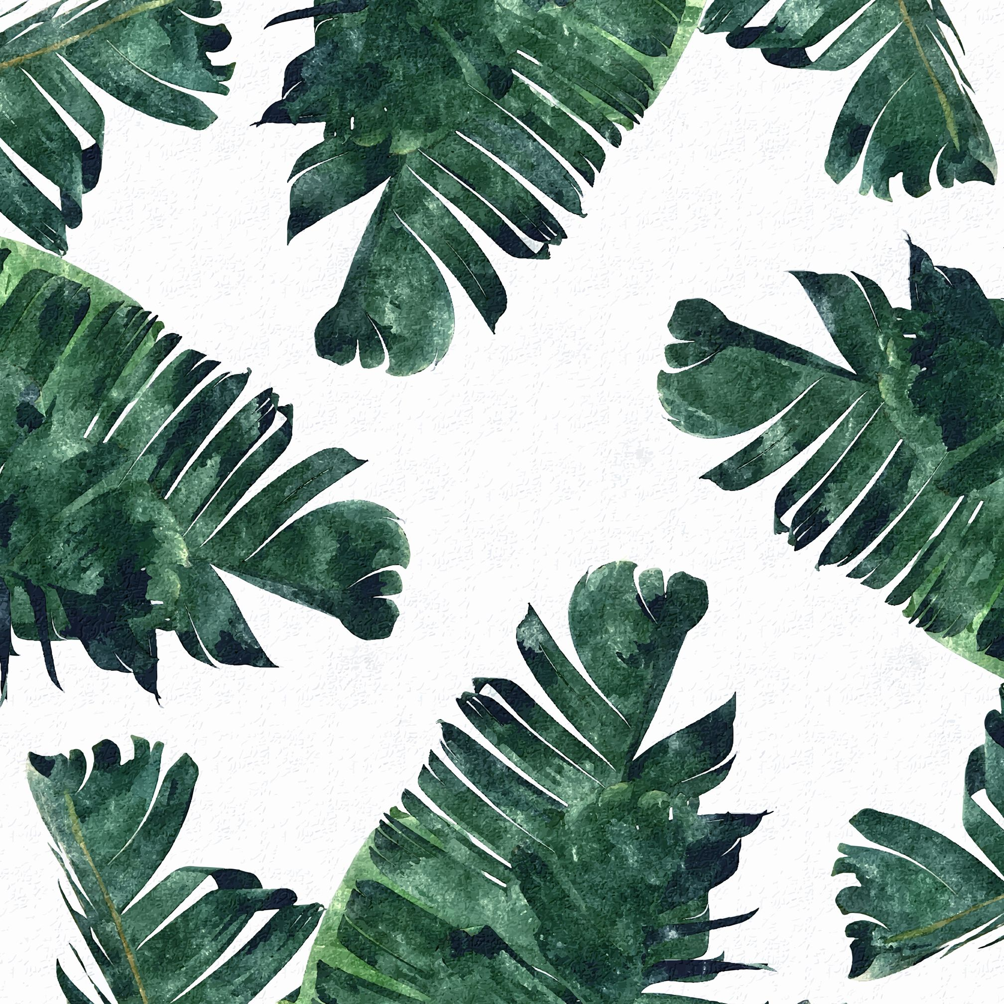 Banana Leaf Watercolor Banana Leaves Watercolor Leaf Background