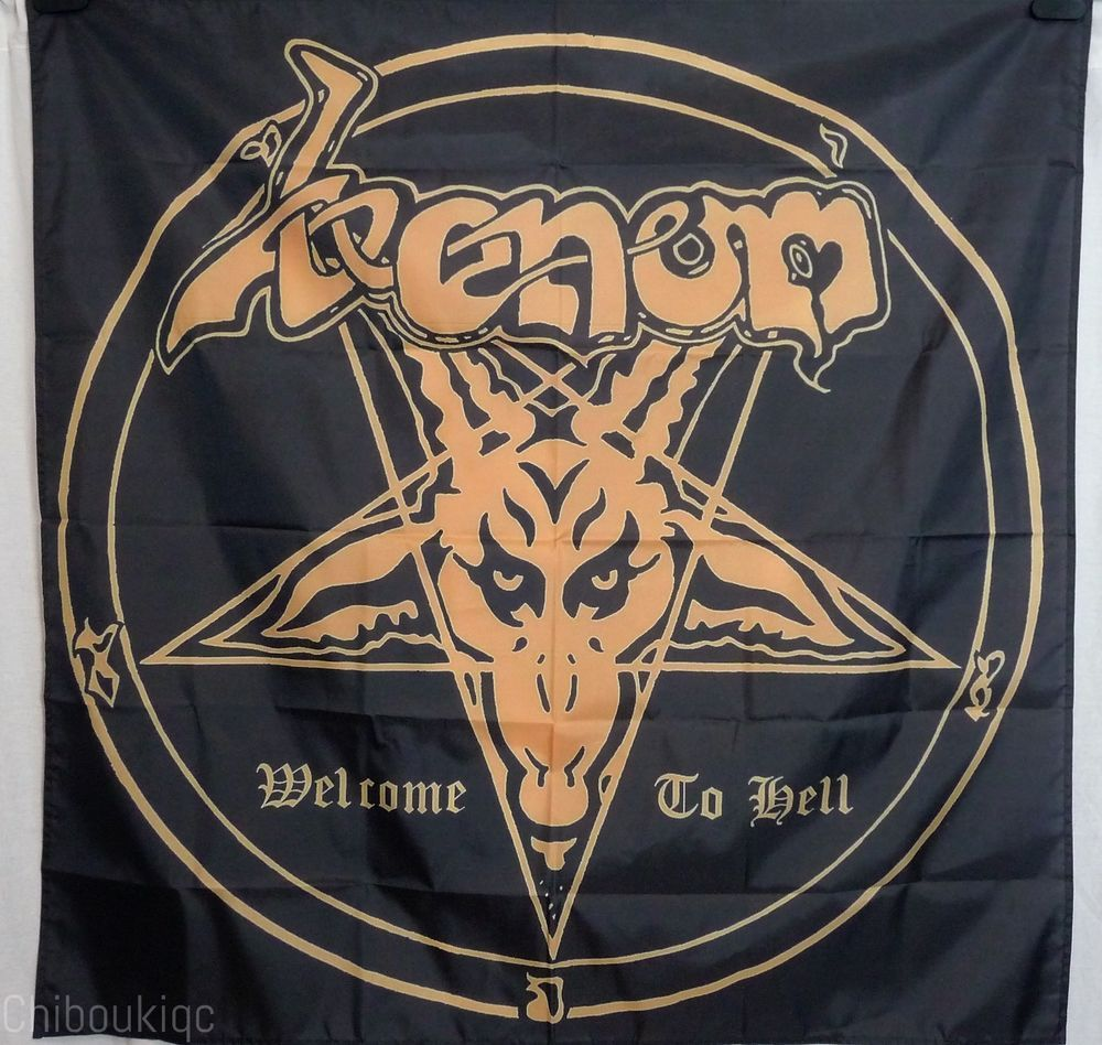 a9be3d9e43e1 VENOM Welcome to Hell HUGE 4X4 banner poster tapestry album heavy metal |  eBay