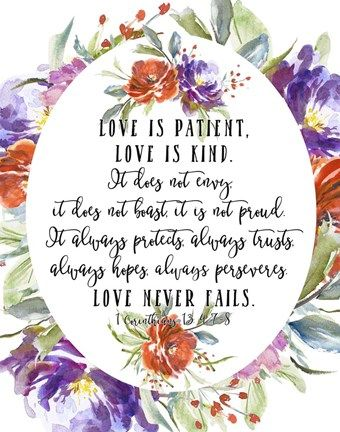 1 Corinthians 13 4 7 8 By Tara Moss Corinthians 13 1 Corinthians 1 Corinthians 13