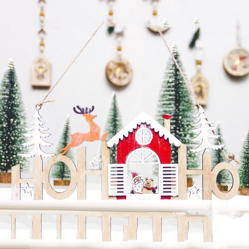 Ebay Weihnachtsdeko.Reklame Christbaumschmuck Aus Holz Hangende Dekoration