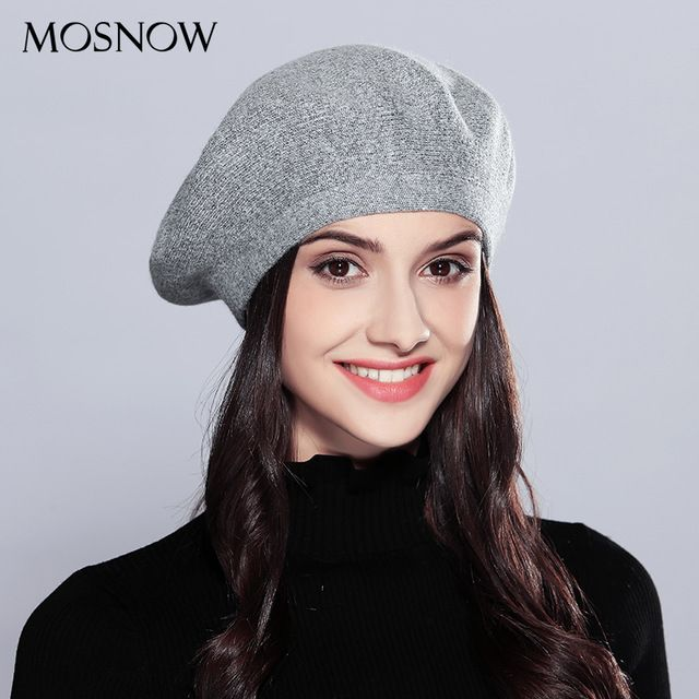 592fb095e Just $14.99, Buy MOSNOW Wool Women's Winter Hats Elegant New High ...