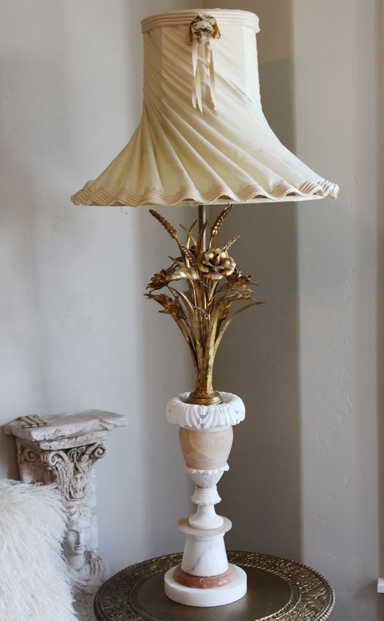 Marble italian gilt tole floral table lamp shade its just marble italian gilt tole floral table lamp shade mozeypictures Image collections
