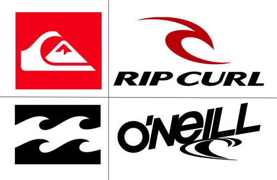 Surfer Clothing Brands Logos