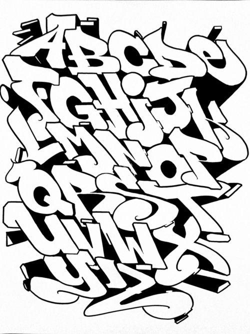 Alphabet Letras Graffiti Alfabeto De Grafiti Disenos De Letras