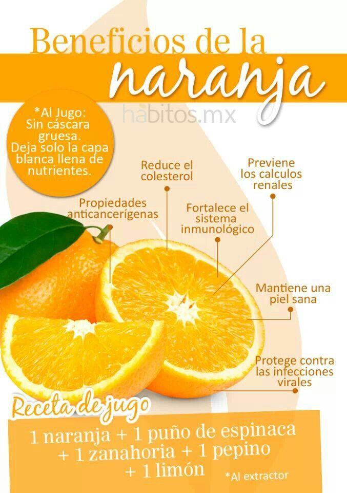propiedades nutricionales jugo de naranja