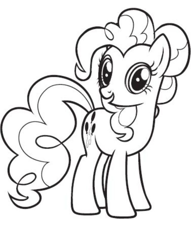 Pinkie Pie coloring page | My little pony coloring, Horse ...