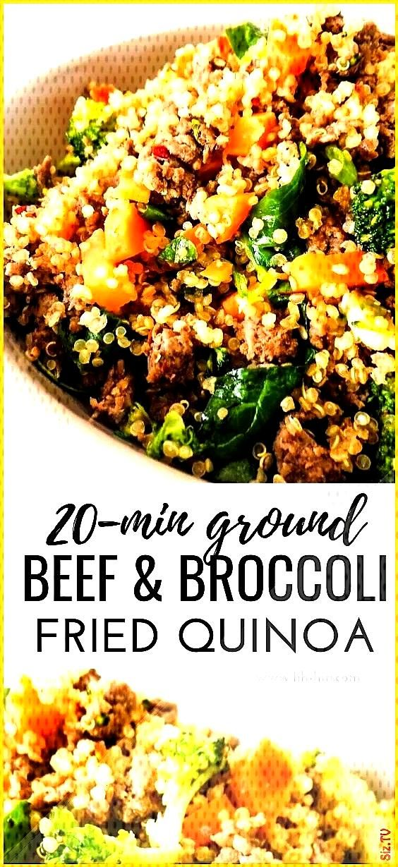 Ground Beef And Broccoli Fried Quinoa  Her Highness Hungry Me beefandbroccoli Healthy Ground Beef A
