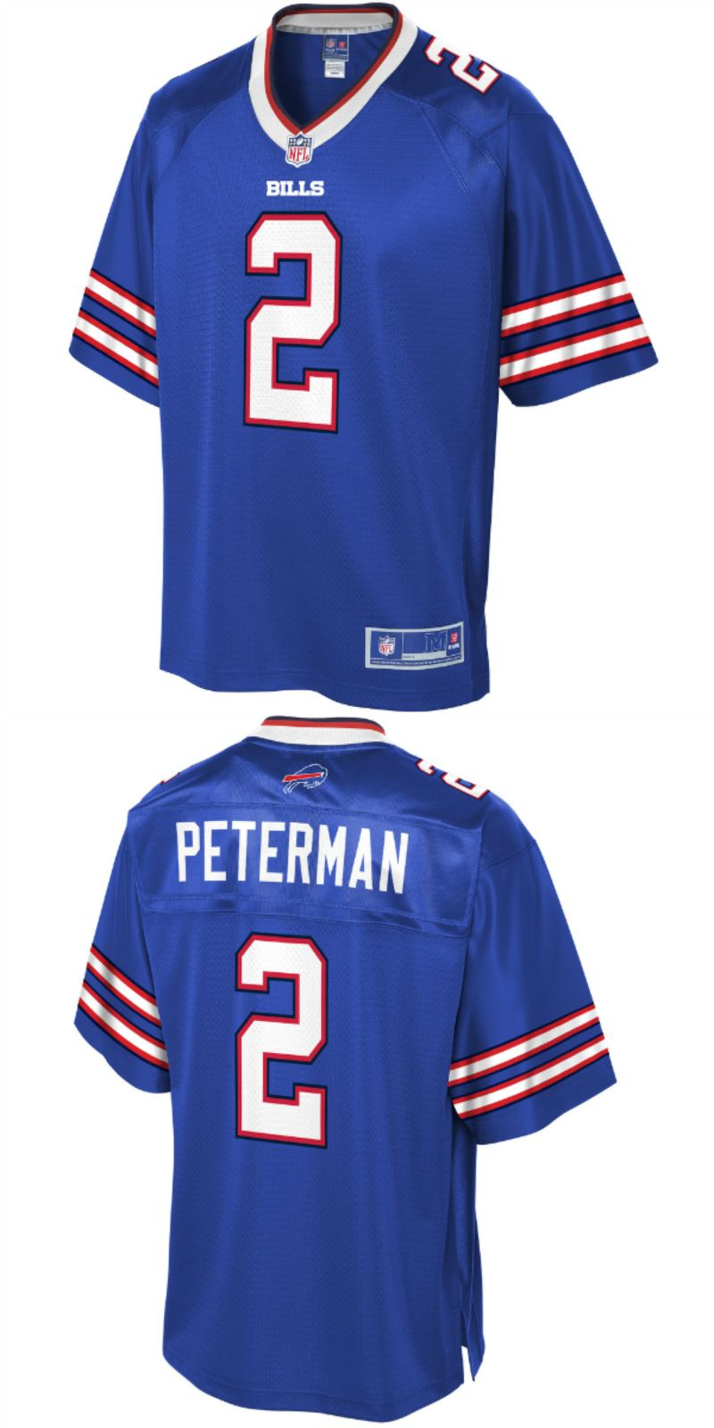 official photos 730e1 25ac9 Nathan Peterman Buffalo Bills NFL Pro Line Player Jersey ...