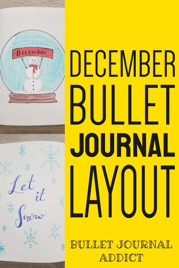 Bullet Journal Addict - Snowflake Theme December 2019