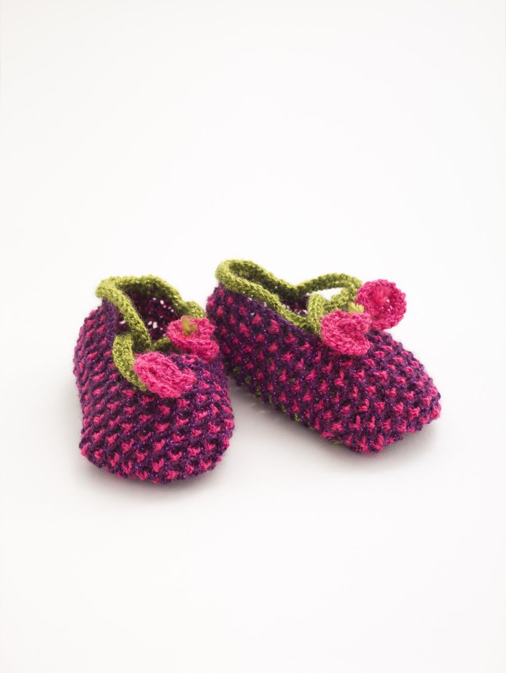 Blossom Booties (Knit) | Craft Ideas | Pinterest