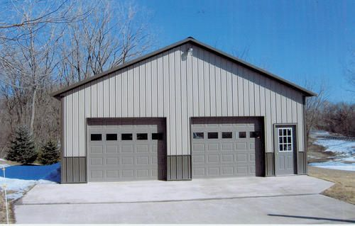 32 W X 32 L X 10 H Garage At Menards 32 W X 32 L X 10 H Garage Metal Garage Buildings Metal Shop Building Building A Garage