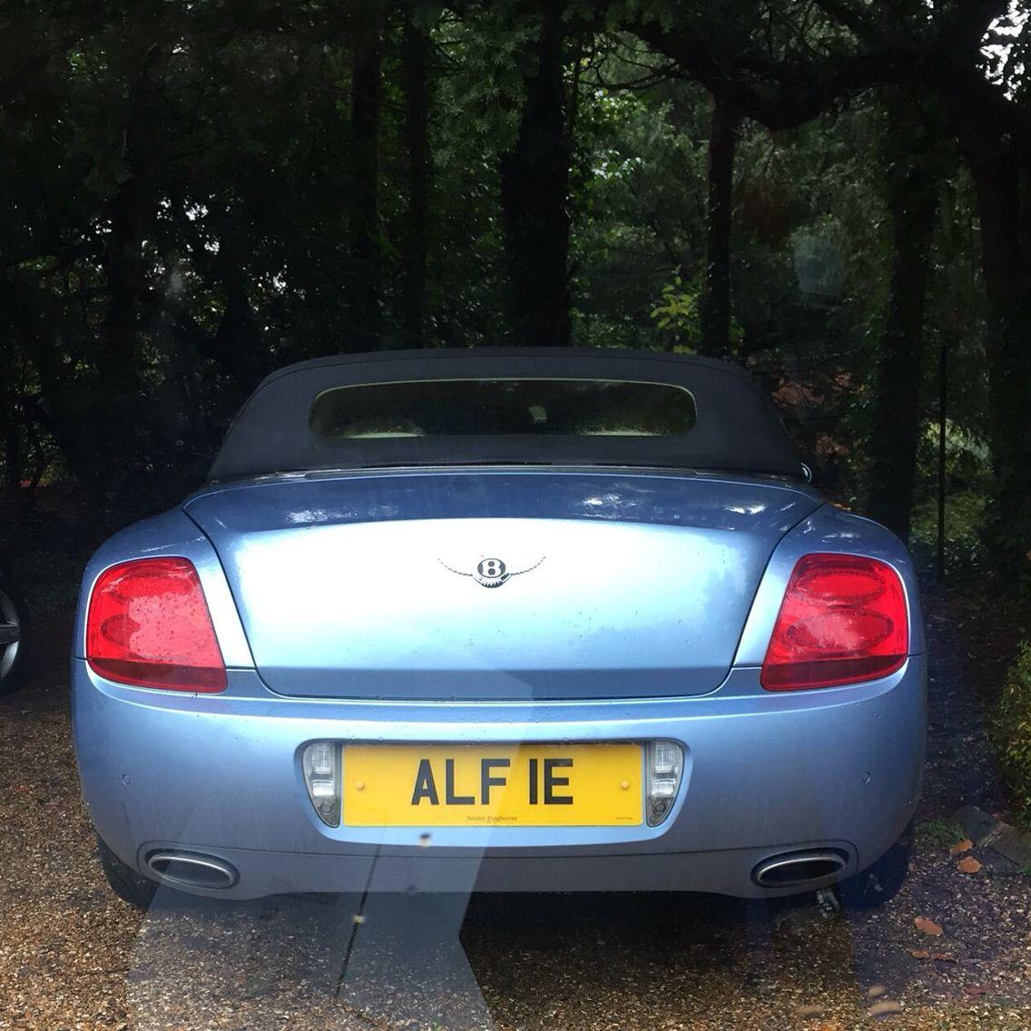 "2002 Mercedes Benz Clk Gtr Super Sport Gallery: Fantastic ""ALFIE"" Number Plate Spotted On A Bentley"