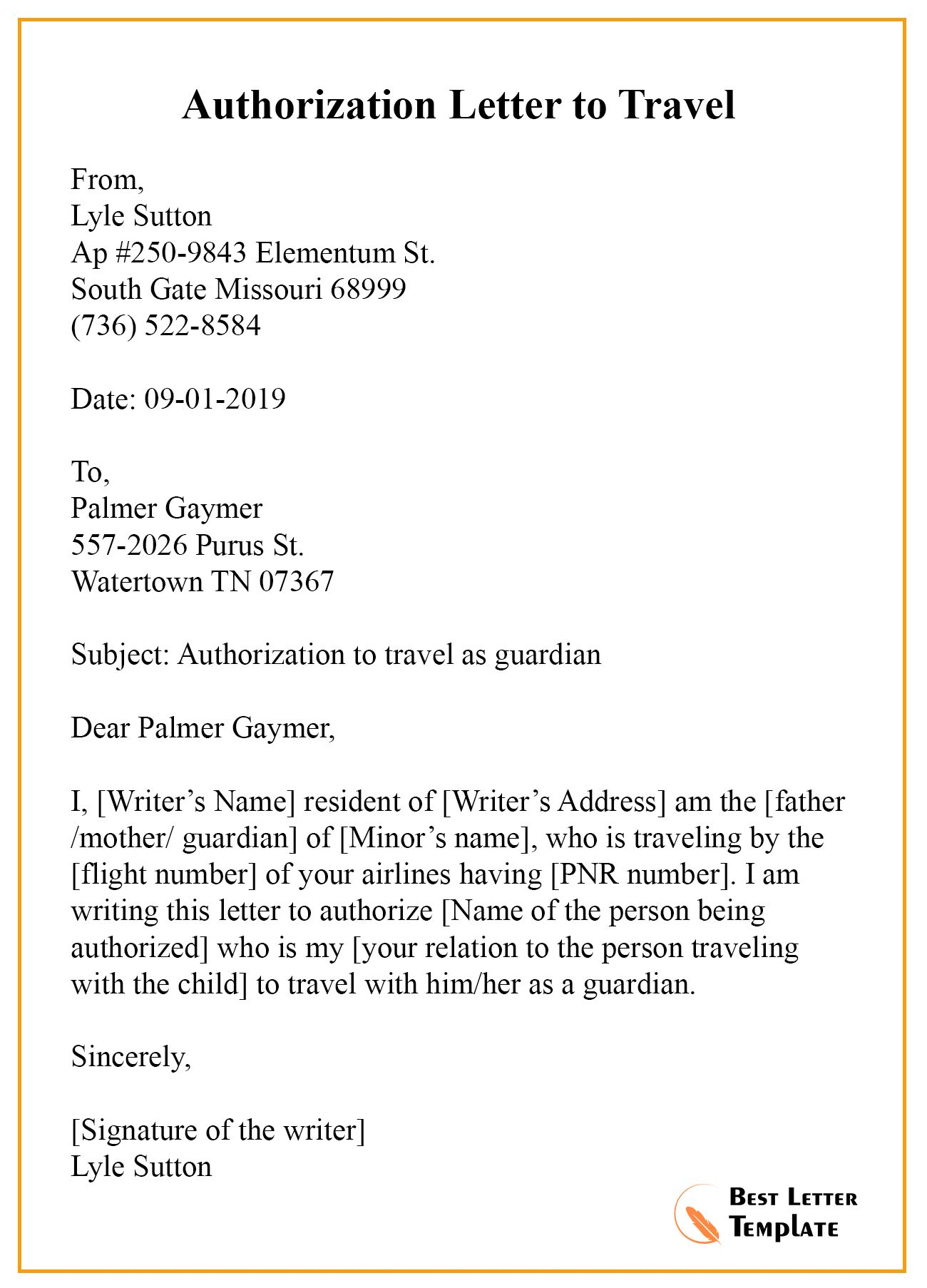 21+ Free Authorization Letter Sample & Example intended