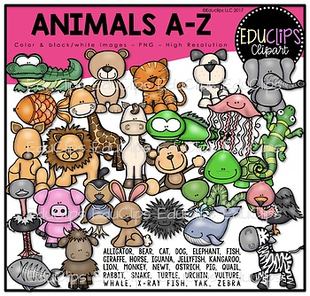 Animals A Z Clip Art Bundle Educlips Clipart Art Bundle Clip Art Drawing Clipart
