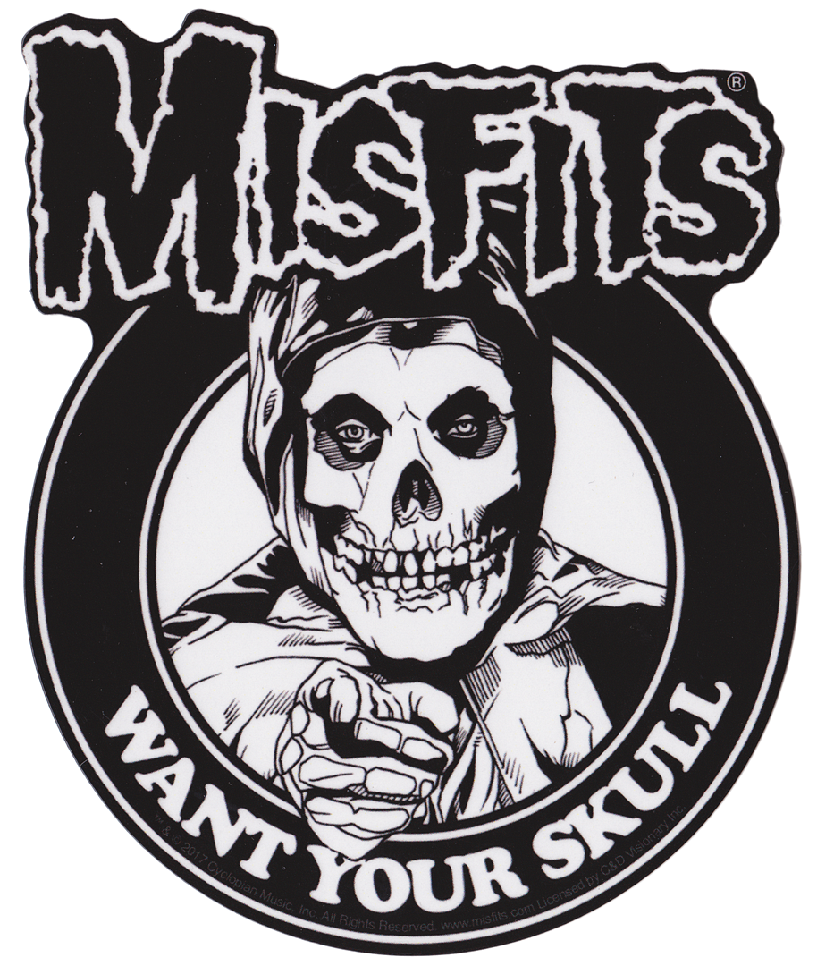 Misfits I Want Your Skull Sticker Misfits Skull Misfits Band