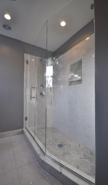 Master Bath Stand Up Shower With Frameless Shower Doors