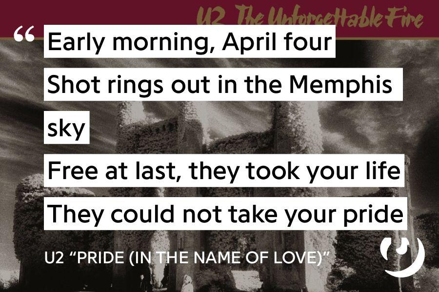 Bukas Nuolydis Krepšinis Pride In The Name Of Love Lyrics Yenanchen Com