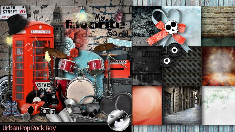 kit urban pop rock boy by KittyScrap