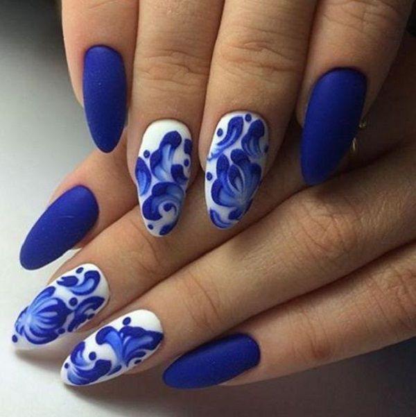 65 Blue Nail Art Ideas Pinterest Blue Colors Aqua And Blue Nails