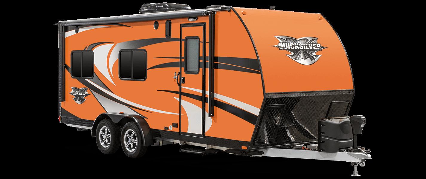 Livin Lite Quicksilver Ultra Lightweight All Aluminum 7x20 Toy Hauler Exterior Toy Hauler Camper Pop Up Camper Trailer Truck Camping