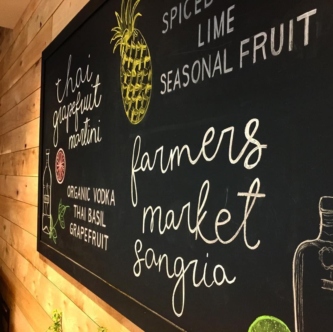 True Food Kitchen Chicago Chalkboard Hand Lettered Restaurant
