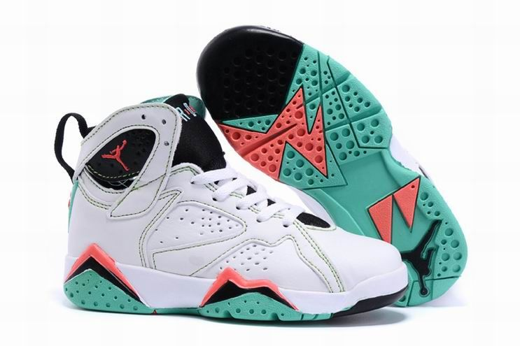 2016 Newest Releases Air Jordan 7 Retro GG Verde White Black Verde Infrared  23 Kids Shoes
