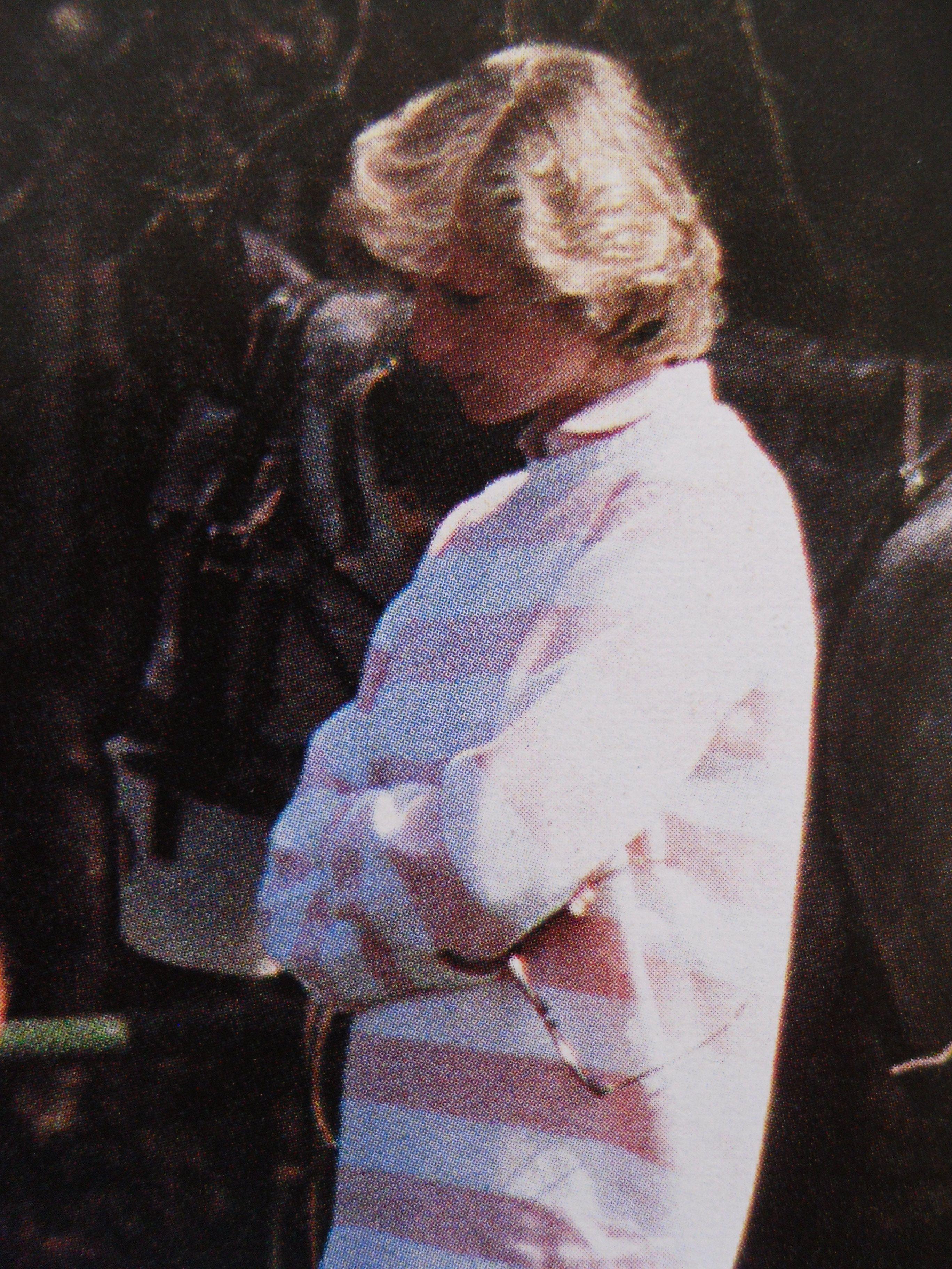 April 29, 1984: Princess Diana watches Prince Charles play polo at Windsor.