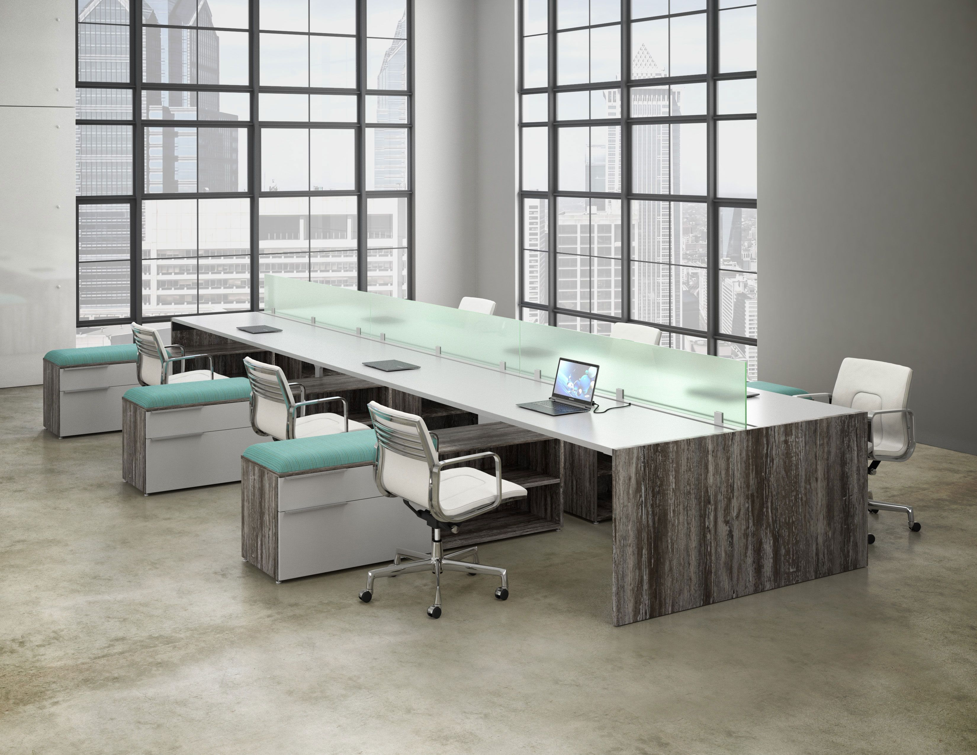6 Person Workstation   Synapse By Deskmakers. Office InspoOffice Chairs  OnlineOfficesBuy ...