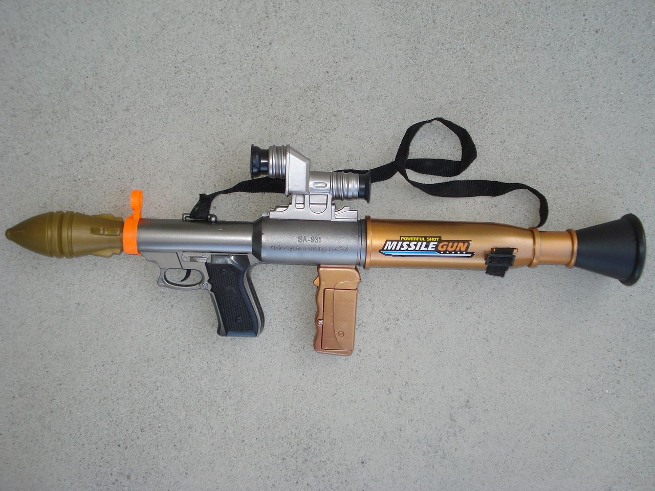 toygunzone bazooka missile gun sounds lights 23 with grenade