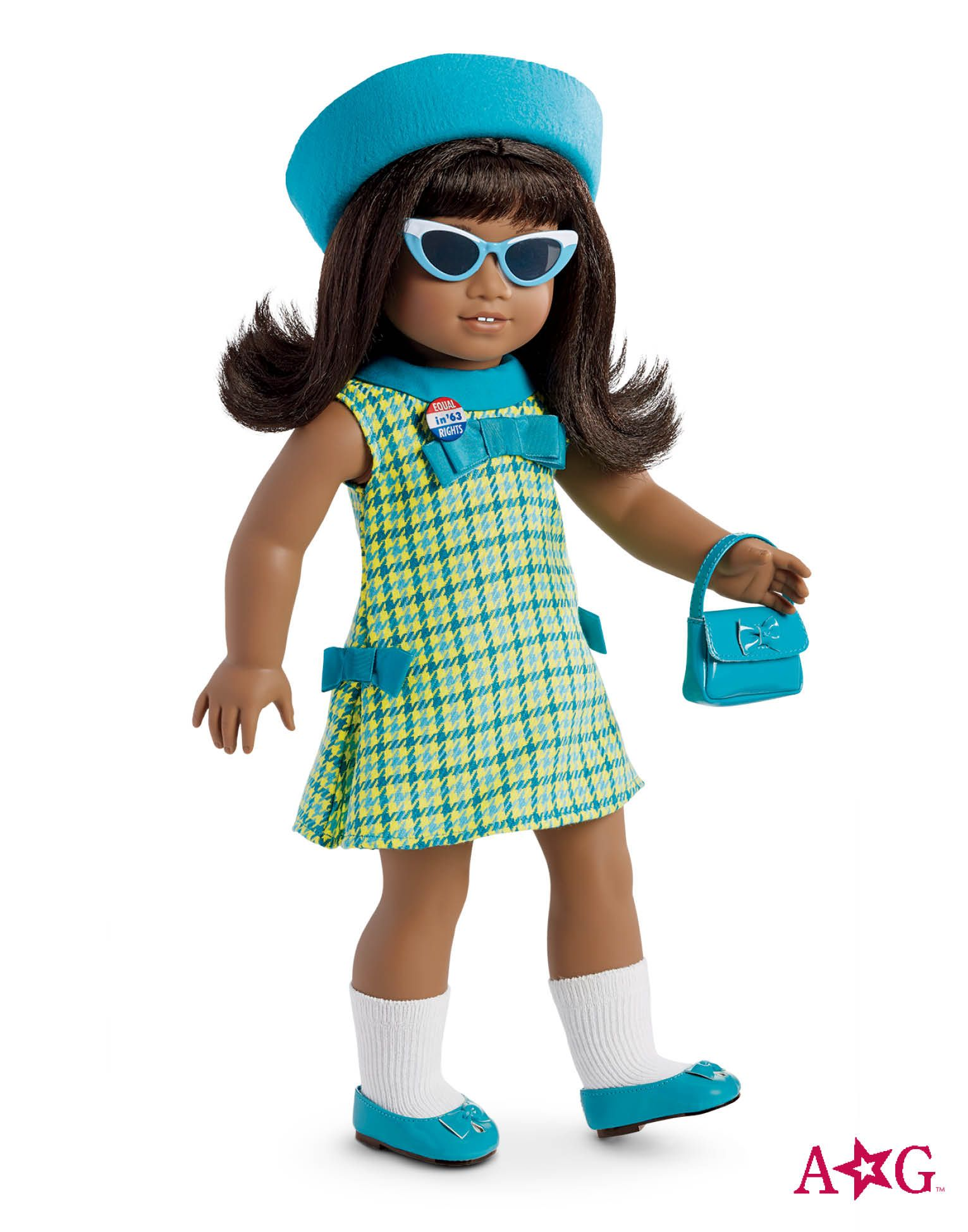"""American Girl Doll Melody Sunglasses Blue Accessory Clothes For 18"""" Doll New"""