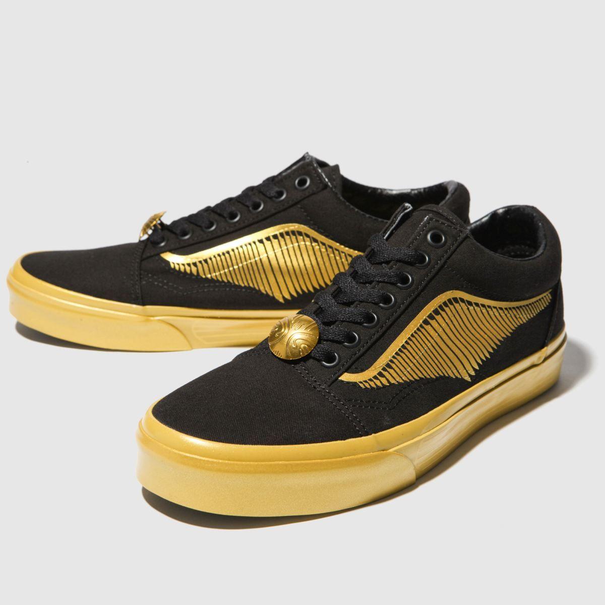 vans black \u0026 gold hp golden snitch old