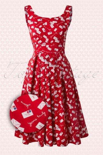 Emily and Fin Yours Truly Mail Dress Red 102 27 13774 20141220 004w