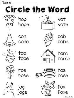 Long O Worksheets And Activities No Prep With Images